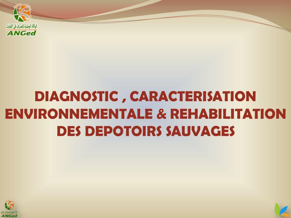 DIAGNOSTIC, CARACTERISATION ENVIRONNEMENTALE & REHABILITATION DES DEPOTOIRS SAUVAGES