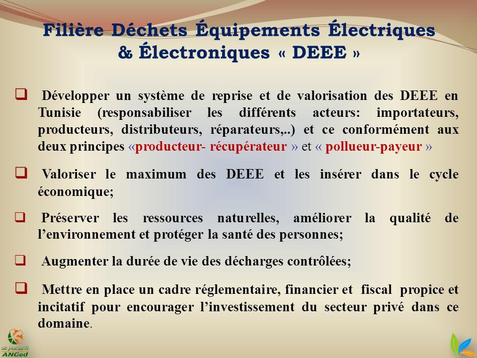 Développer un système de reprise et de valorisation des DEEE en Tunisie (responsabiliser les différents acteurs: importateurs, producteurs, distribute
