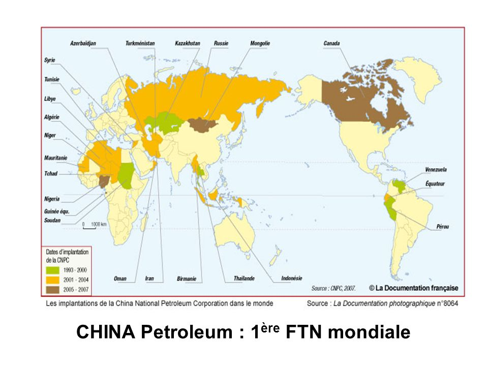 CHINA Petroleum : 1 ère FTN mondiale