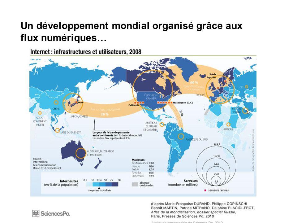 Un développement mondial organisé grâce aux flux numériques…