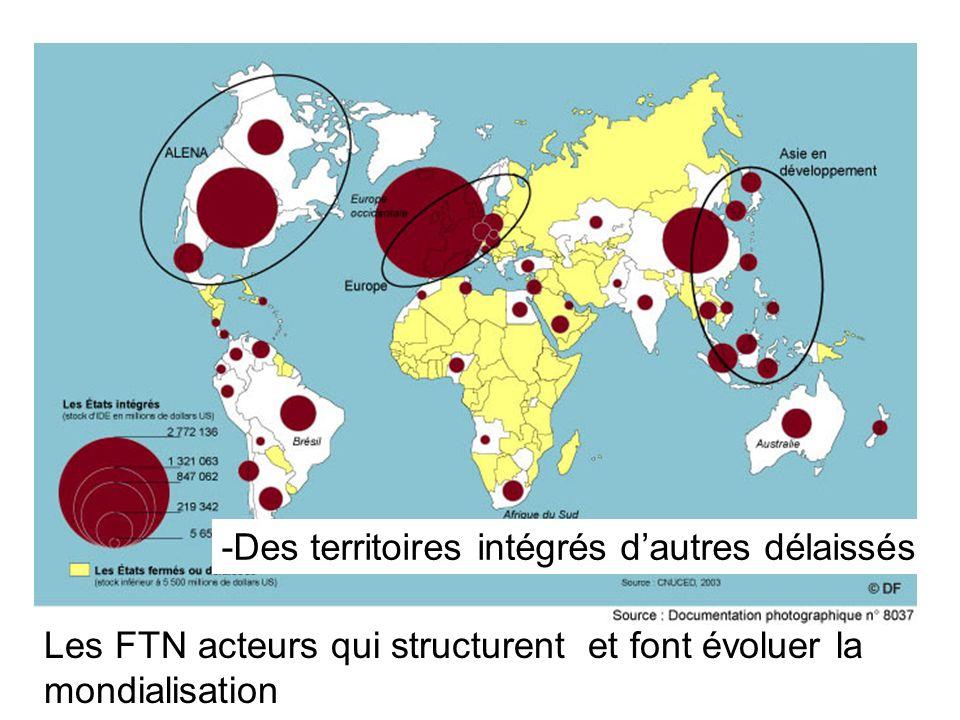 -Des territoires intégrés dautres délaissés Les FTN acteurs qui structurent et font évoluer la mondialisation