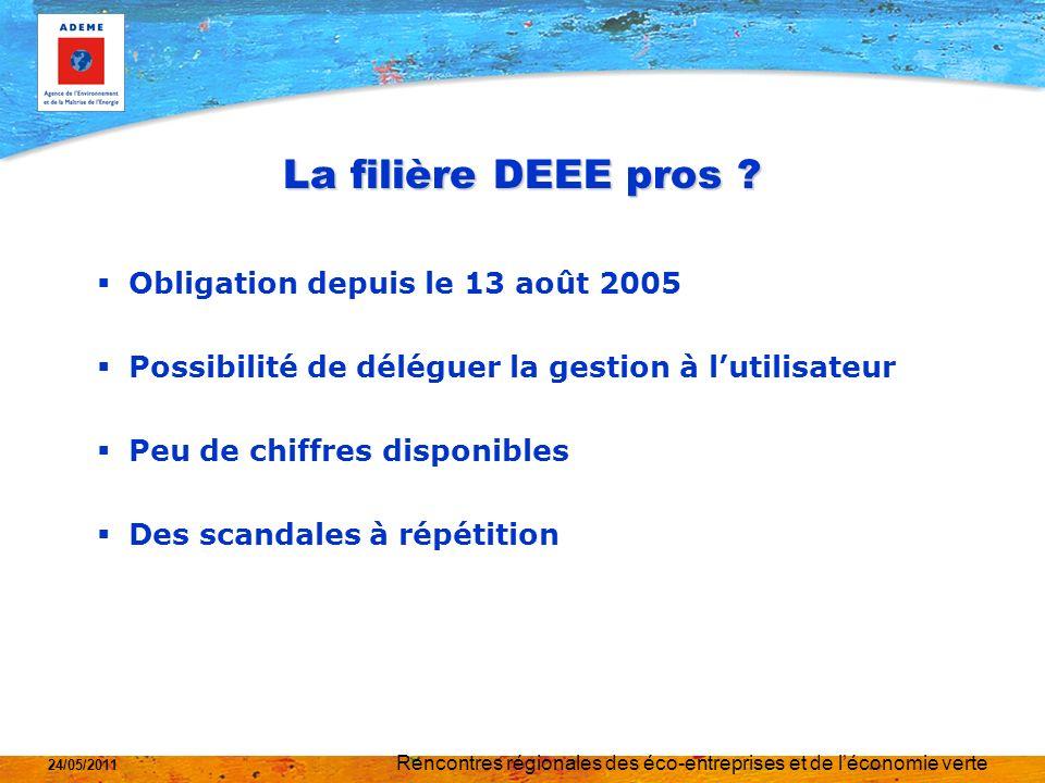 Rencontres régionales des éco-entreprises et de léconomie verte 24/05/2011 La filière DEEE pros .