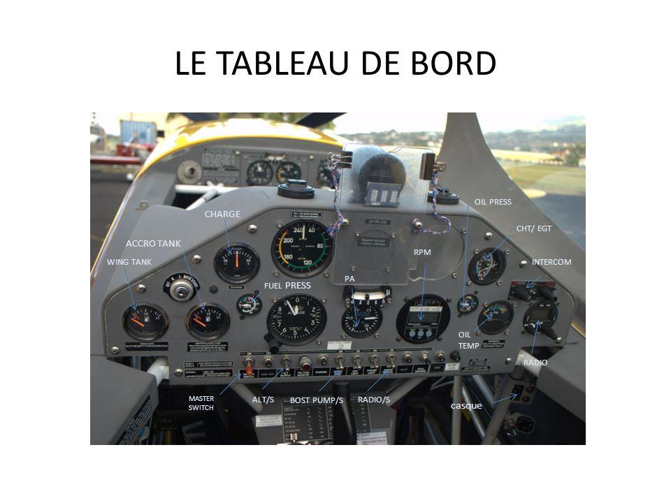 LA CABINE RPM P.A mixture Transpondeur Horamètre moteur Chrono C/L compensateur chauffage