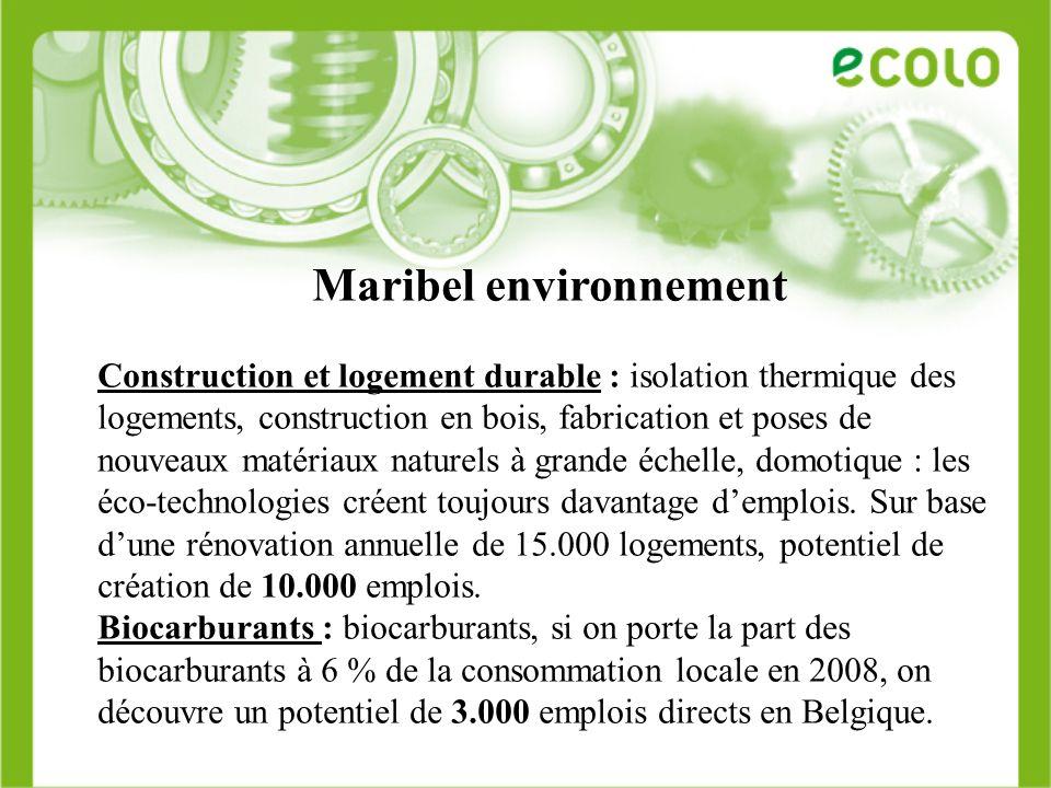 Maribel environnement Construction et logement durable : isolation thermique des logements, construction en bois, fabrication et poses de nouveaux mat
