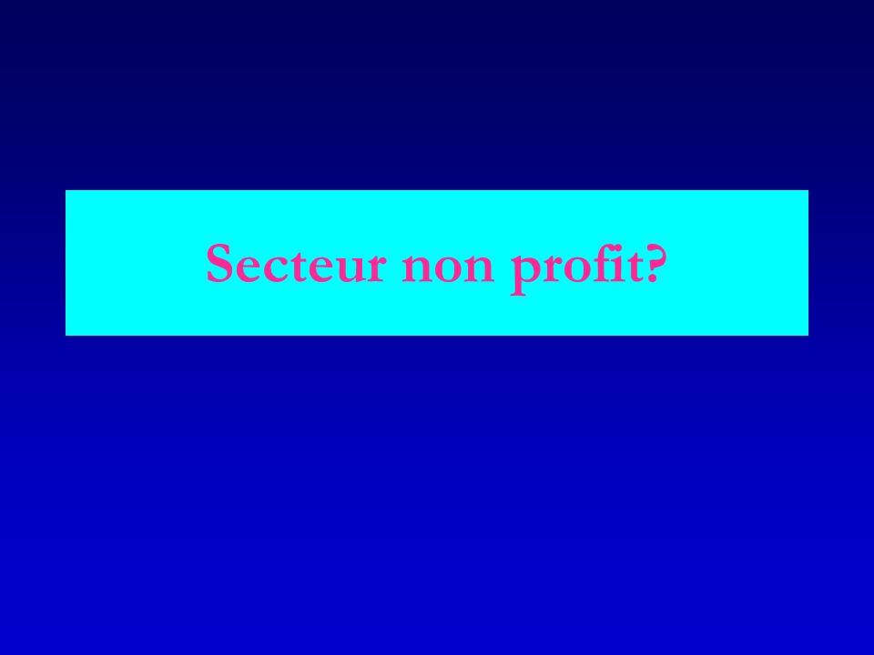 Secteur non profit