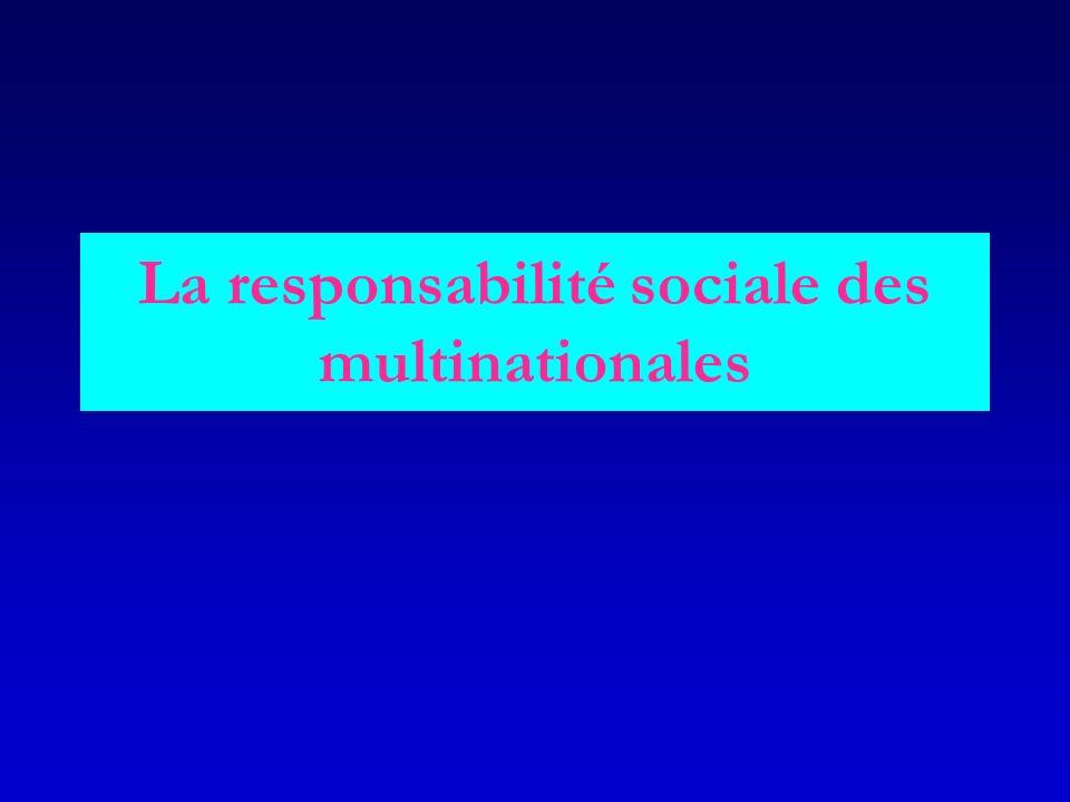 La responsabilité sociale des multinationales