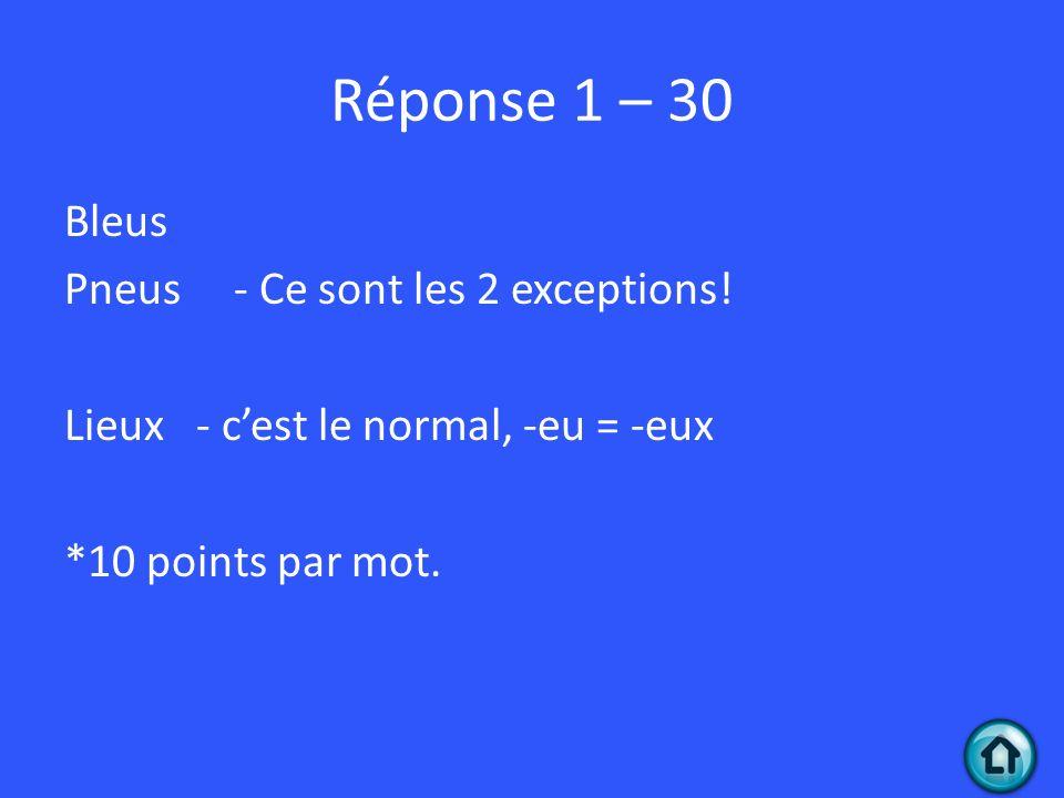 Question 2 - 40 Mets le bon déterminant démonstratif.