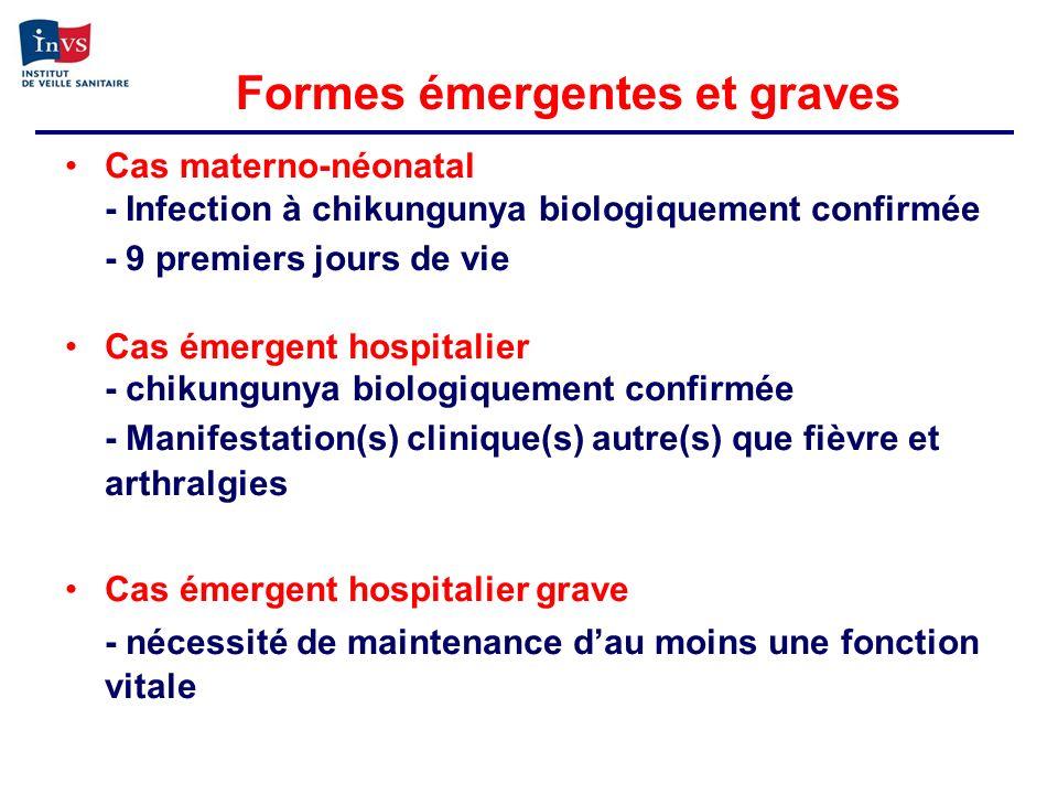 Cas materno-néonatal - Infection à chikungunya biologiquement confirmée - 9 premiers jours de vie Cas émergent hospitalier - chikungunya biologiquemen