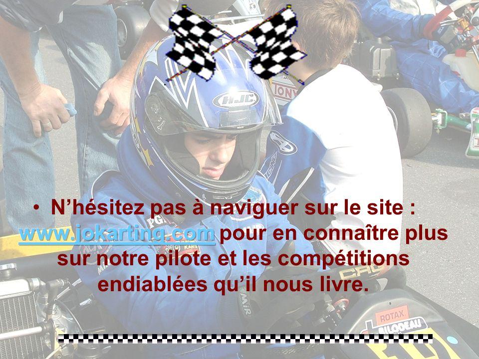 Après une deuxième place au championnat de la Coupe du Québec, une troisième place à la dernière course de la Coupe de Montréal, Jonathan se mérite, a