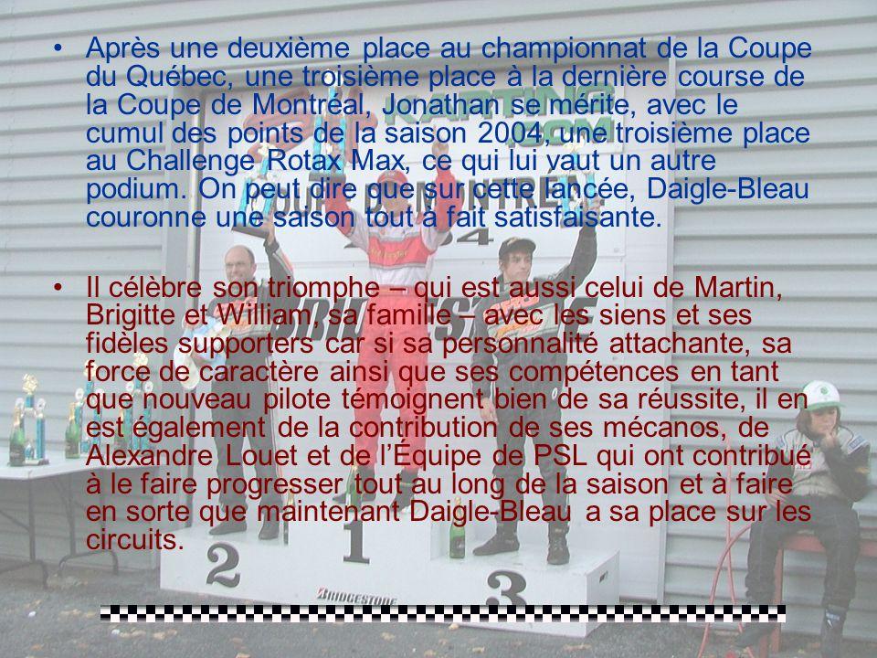 Saint-Hilaire – Coupe de Montréal/Challenge Rotax Max: LE 25 SEPTEMBRE, UNE 8ÈME ET DERNIÈRE ÉDITION POUR LA SAISON 2004 QUI SAIT PLAIRE AUTANT À L'AM