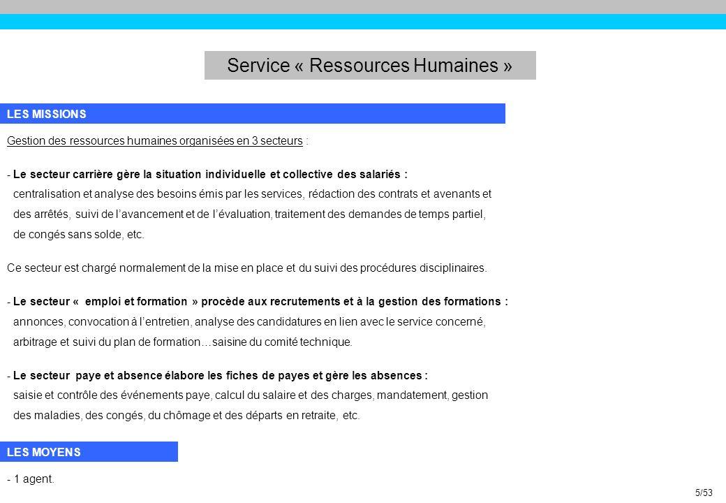 Service « Développement Economique » III.