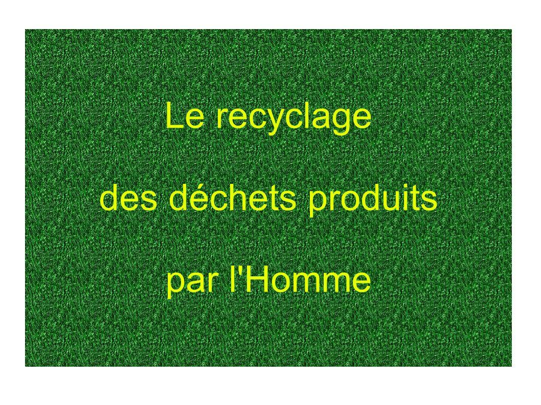 Le recyclage des déchets produits par l'Homme