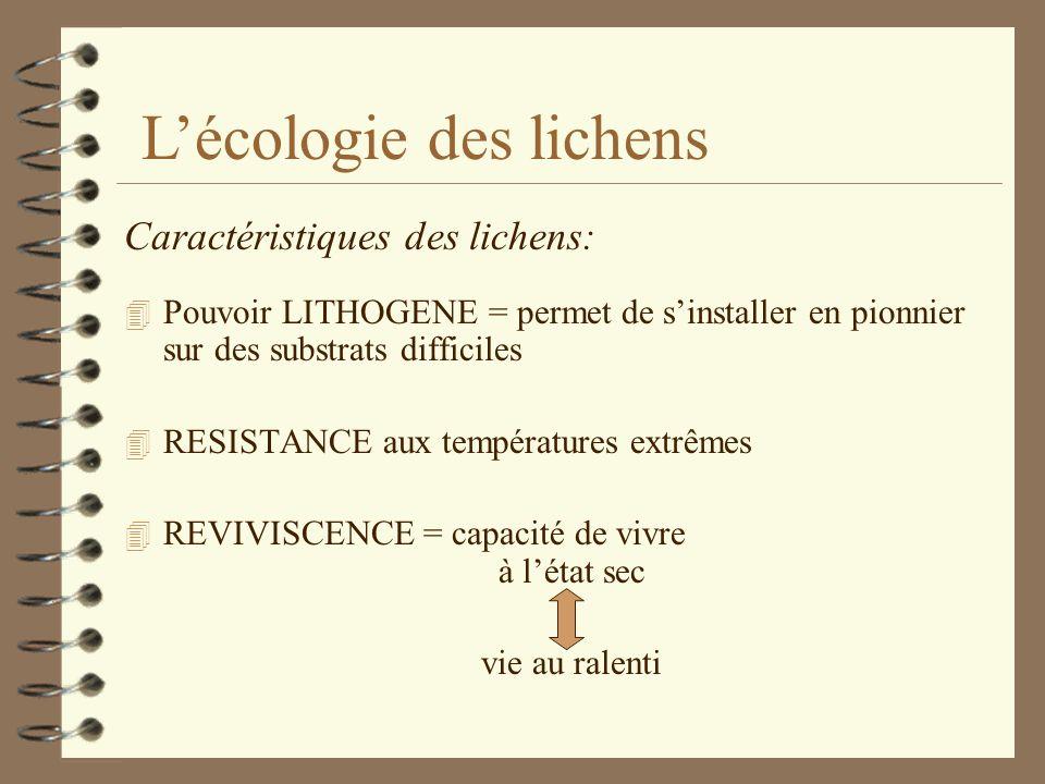 Lécologie des lichens