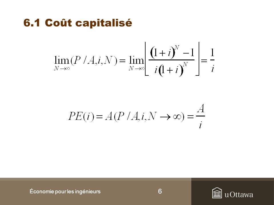 17 Exemple III (suite) Trouvez le coût unitaire pour chaque option et –Le volume de production annuel requis est de 79 815 unités/sem x 48 sem.
