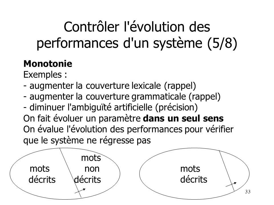 33 Monotonie Exemples : - augmenter la couverture lexicale (rappel) - augmenter la couverture grammaticale (rappel) - diminuer l'ambiguïté artificiell
