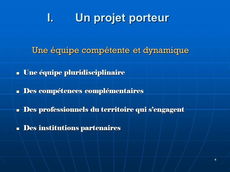 4 Une équipe pluridisciplinaire Une équipe pluridisciplinaire Des compétences complémentaires Des compétences complémentaires Des professionnels du te