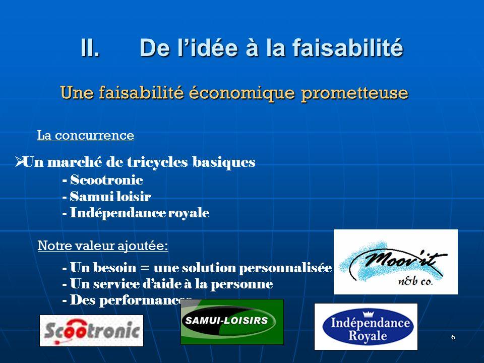 6 Un marché de tricycles basiques - Scootronic - Samui loisir - Indépendance royale Notre valeur ajoutée: - Un besoin = une solution personnalisée - U
