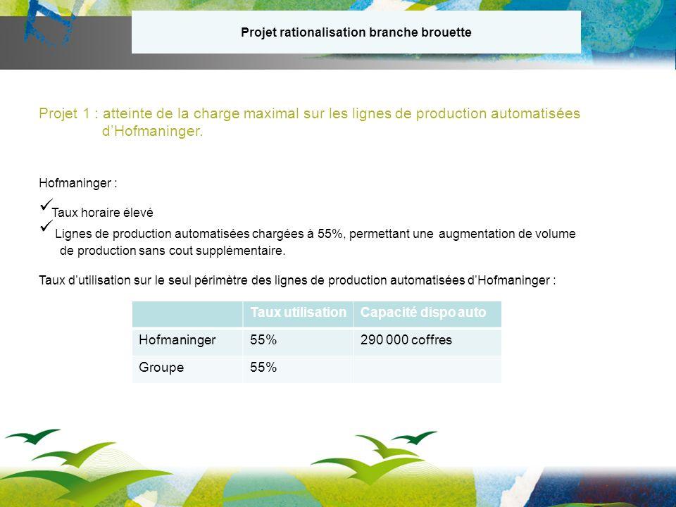 Projet rationalisation branche brouette Projet 1 : atteinte de la charge maximal sur les lignes de production automatisées dHofmaninger.
