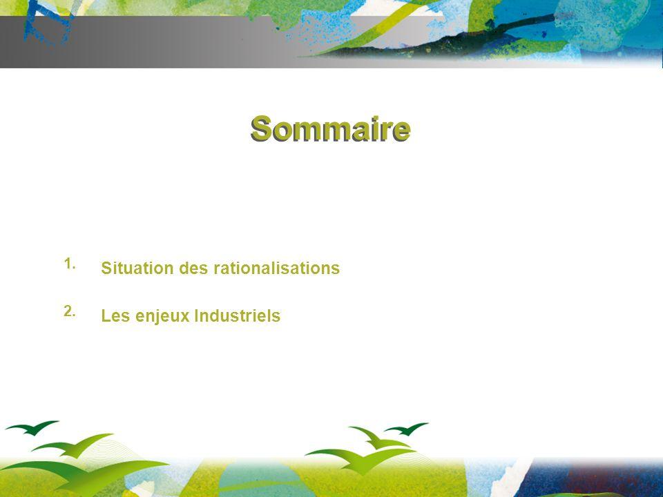 1. Situation des rationalisations 2. Les enjeux Industriels Sommaire