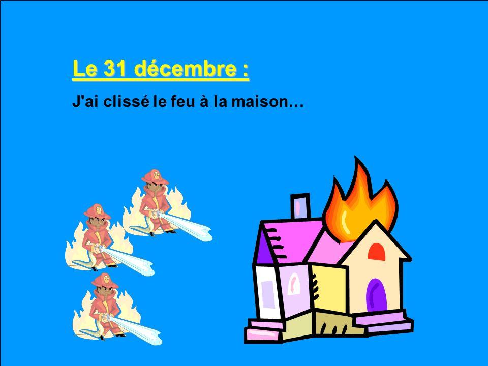 Le 30 décembre : La toilette a gelé et le toit a commence à renfoncer. Si vous sortez dehors, ne mangez pas de neige jaune.