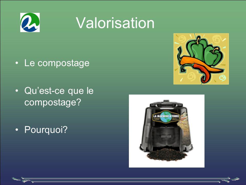 Valorisation Le compostage Quest-ce que le compostage Pourquoi