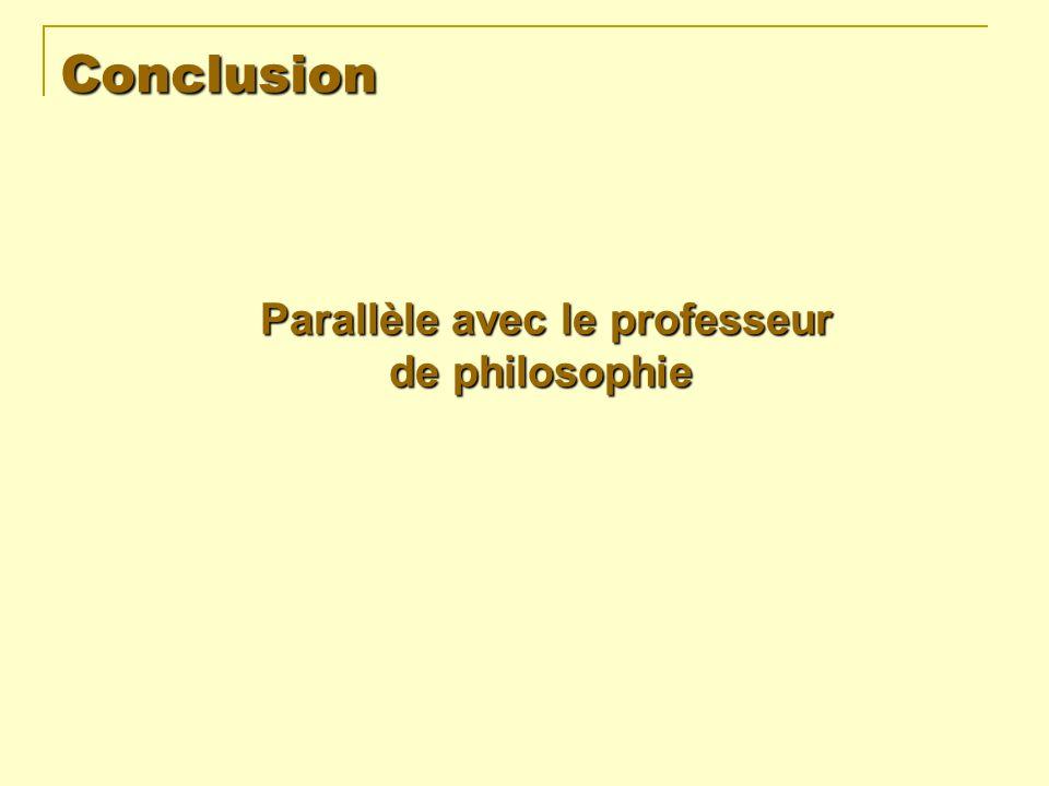 Conclusion Parallèle avec le professeur de philosophie