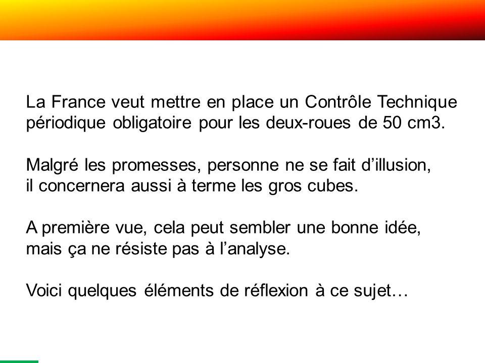 La France veut mettre en place un Contrôle Technique périodique obligatoire pour les deux-roues de 50 cm3.