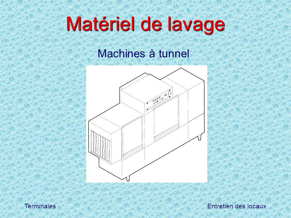 Entretien des locauxTerminales Matériel de lavage Machines à tunnel