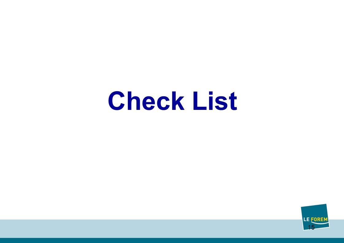 15 Check List
