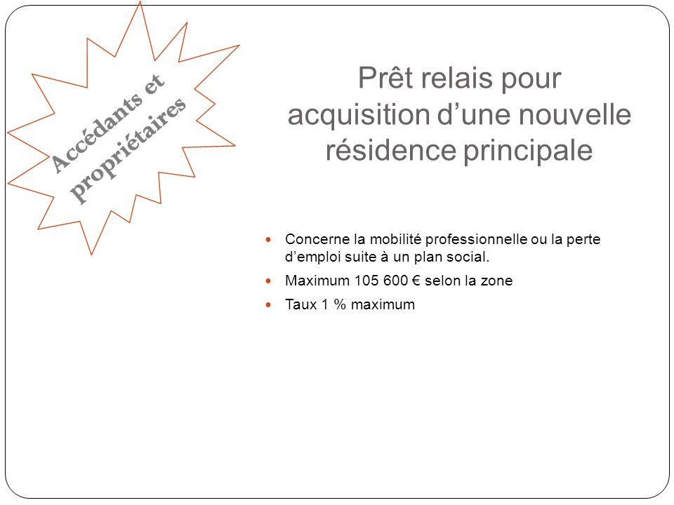 Prêt PASS-TRAVAUX (copropriétés dégradées) (droits ouverts) Maximum 18 000 Taux 1,5 %