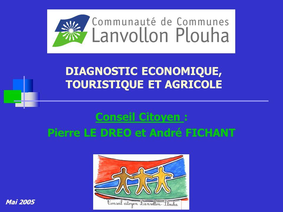 DIAGNOSTIC ECONOMIQUE, TOURISTIQUE ET AGRICOLE Conseil Citoyen : Pierre LE DREO et André FICHANT Mai 2005