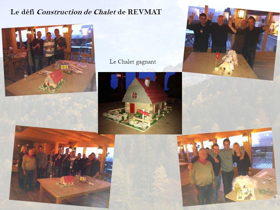Le défi Construction de Chalet de REVMAT Le Chalet gagnant