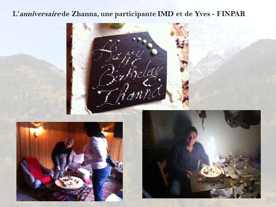 Lanniversaire de Zhanna, une participante IMD et de Yves - FINPAR