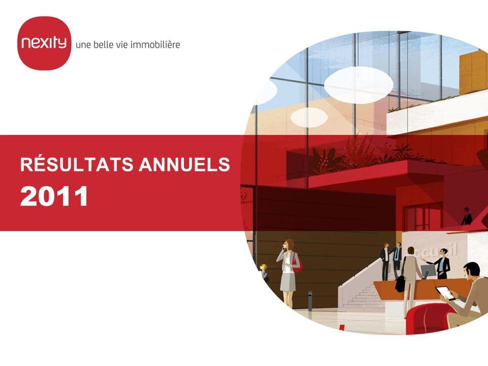 RÉSULTATS ANNUELS 2011 – 22 février 2012 PAGE 22 NEXITY ACCESS DESIGN Nouvelle offre résidentielle pour les primo-accédants Avantage recherché de 20% par rapport aux prix de marché, par économies sur le coût de construction Bâtiments collectifs en R+2 / R+ 3 en 1 ère couronne Révision complète du design, de la conception, des matériaux, de la gestion de projet et de la coordination Délai de réalisation réduit : 6 mois 3 projets en cours de développement