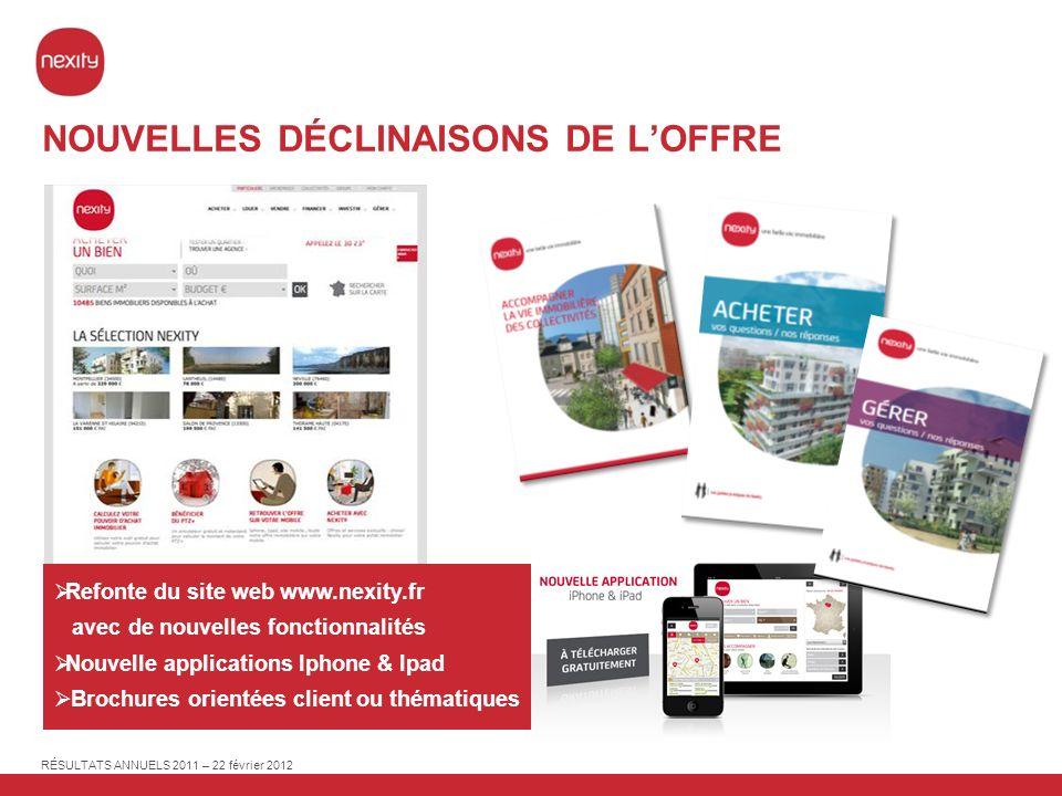 RÉSULTATS ANNUELS 2011 – 22 février 2012 PAGE 48 31 déc.