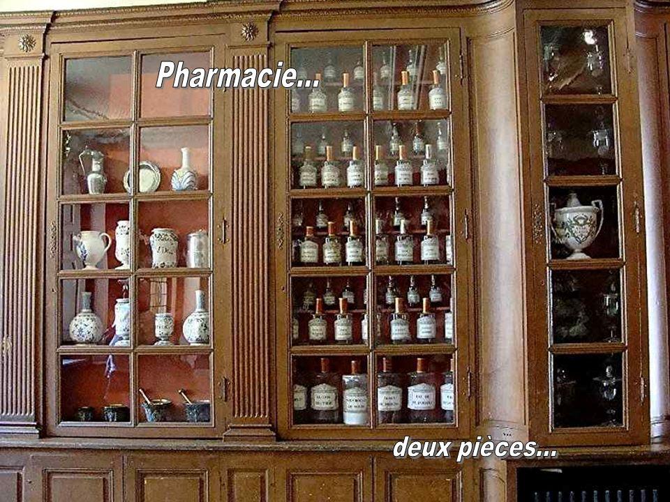 Tableau représentant les différentes tâches effectuées dans lapothicairerie.