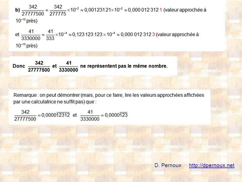 D. Pernoux http://dpernoux.nethttp://dpernoux.net