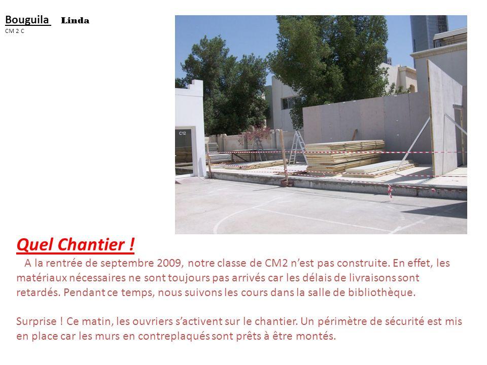 Vanessa el_jammal Cm 2 c La construction du sol de la classe Dans cette salle il ny a pas de mur ni de porte ni de sol. Je crois que cest une scène po