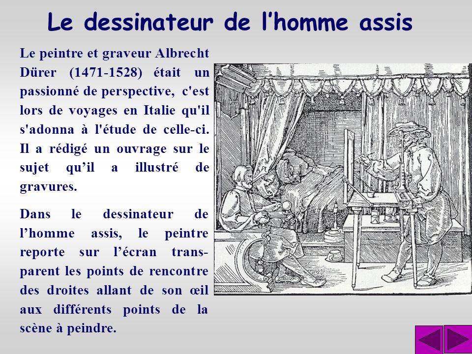 Le principe découvert par Brunelleschi est le suivant : supposons que l'on place un écran de verre entre la scène à peindre et l œil du peintre et que