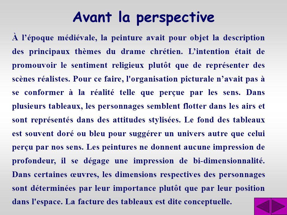 La perspective Montage préparé par : André Ross Professeur de mathématiques Cégep de Lévis-Lauzon