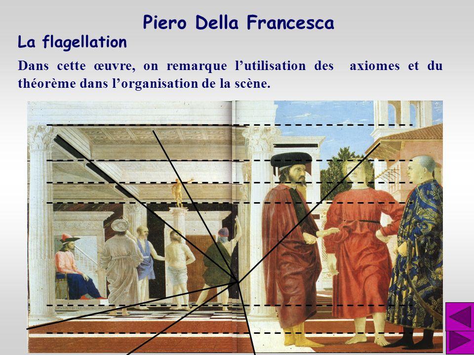Étude Dans cette étude, Piero della Francesca démontre sa maîtrise de la géométrie et de la perspective. Piero Della Francesca