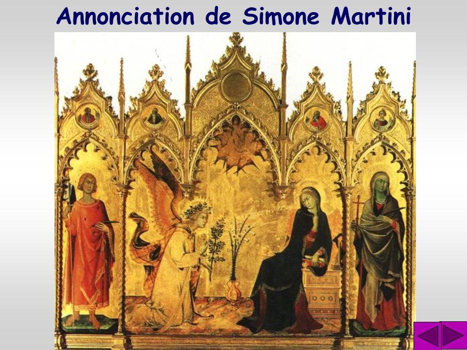 Annonciation de Simone Martini