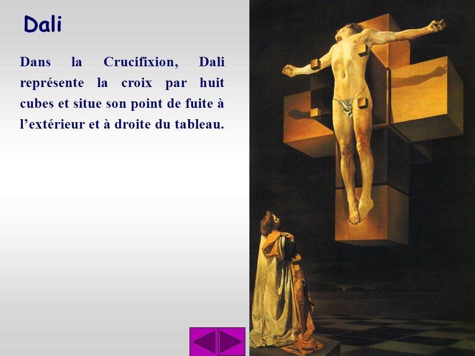 Dali Dans cette étude pour la Madone de Port Lligat, les lignes de fuite conver- gent vers lœil droit de la Vierge.