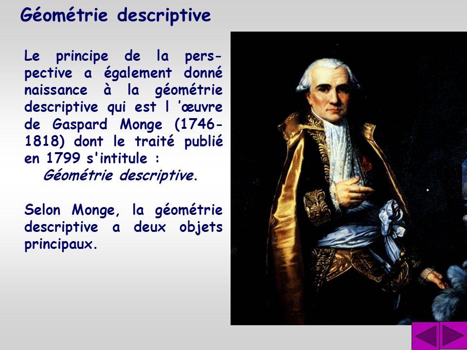 Géométrie projective Il prépara alors une pro- fonde réforme de la géo- métrie. C'est en 1822 qu'il publia son Traité des propriétés projectives des f