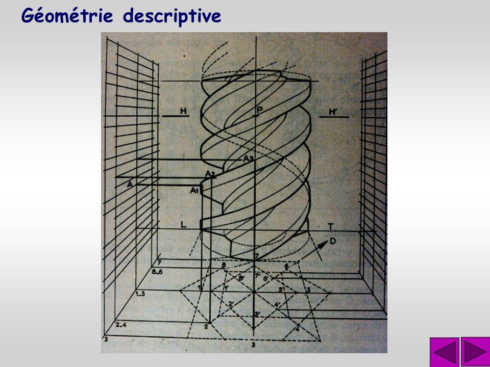 Géométrie descriptive Représenter avec exactitude, sur des dessins qui n'ont que deux dimensions des objets qui en ont trois et qui sont susceptibles