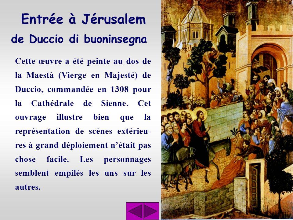 La cène de Giotto La Pentecôte, tout comme la Cène, sont des fresques de la chapelle de lArena à Padoue. Les murs de cette chapelle sont entièrement r
