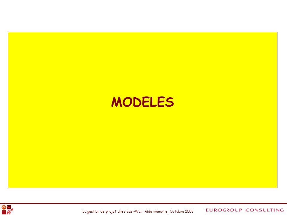 La gestion de projet chez Easi-Wal : Aide mémoire_Octobre 2008 MODELES