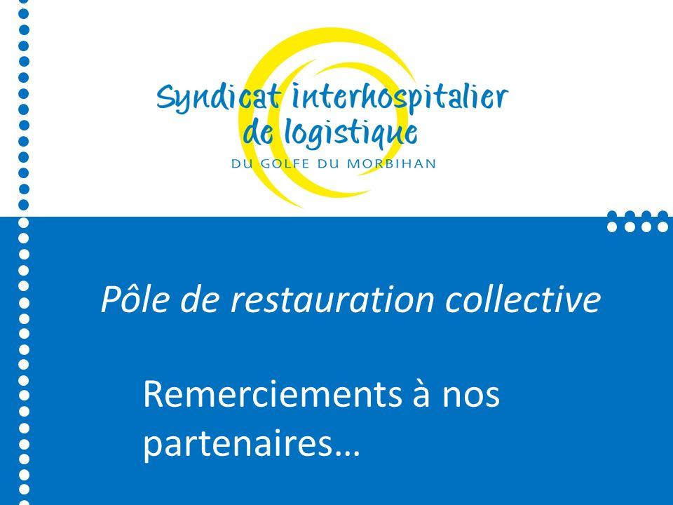 Pôle de restauration collective Remerciements à nos partenaires…