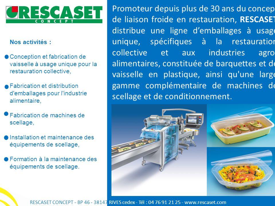 Nos activités : Conception et fabrication de vaisselle à usage unique pour la restauration collective, Fabrication et distribution d'emballages pour l