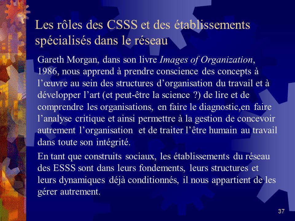36 Organisation et société Selon Erhard Friedberg,,extrait du syllabus de son cours « Théorie des organisations » Les organisations ne sont pas des ph